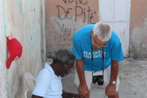 gene and old man in haiti